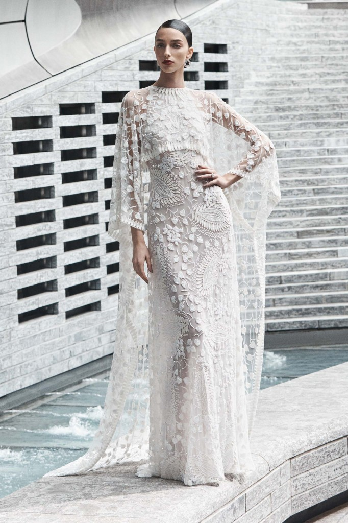 Naeem Khan Bridal Look (Photo courtesy of the designer)