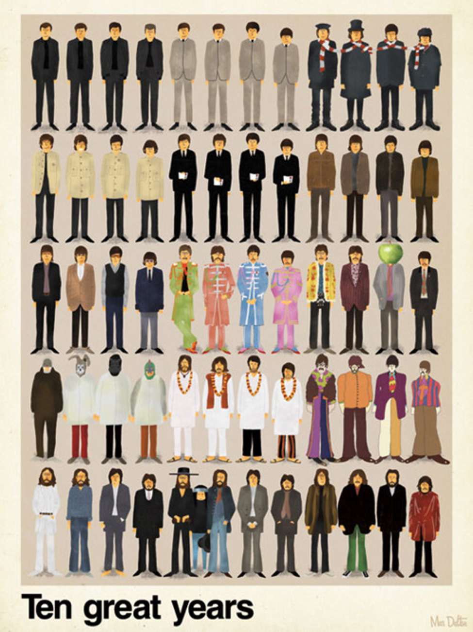 10 years of Beatles style (Courtesy of Mauro Amaral)