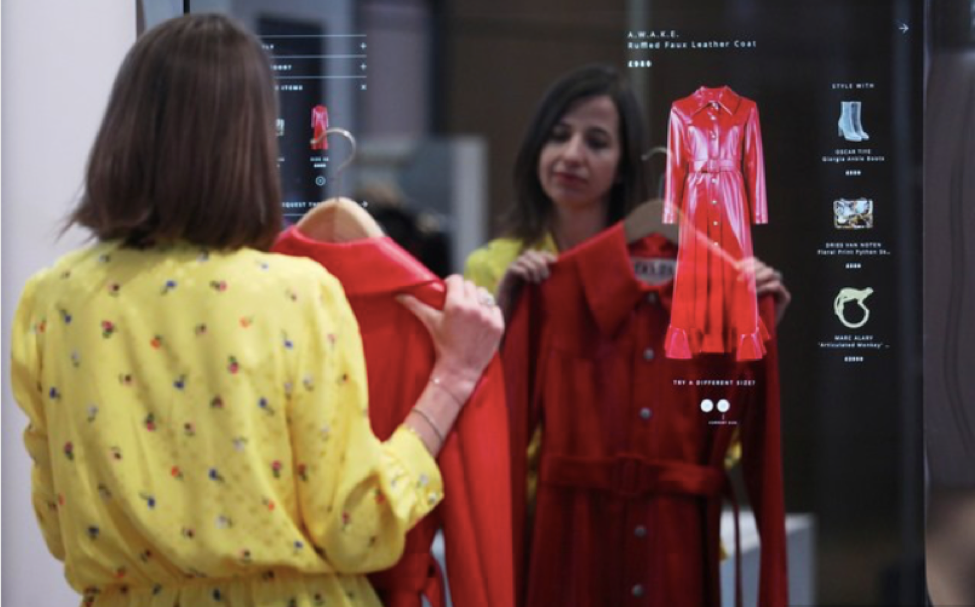 Farfetch's  pop-up Store of the Future (Courtesy of Bloomberg)