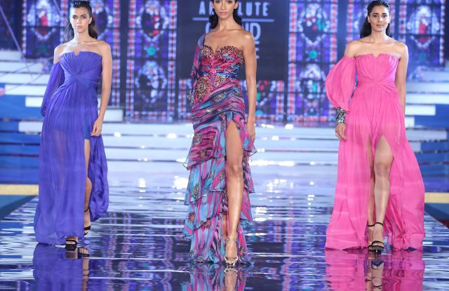 Models in Monisha Jaising at Lakme Absolute Grand Finale courtesy of WWD
