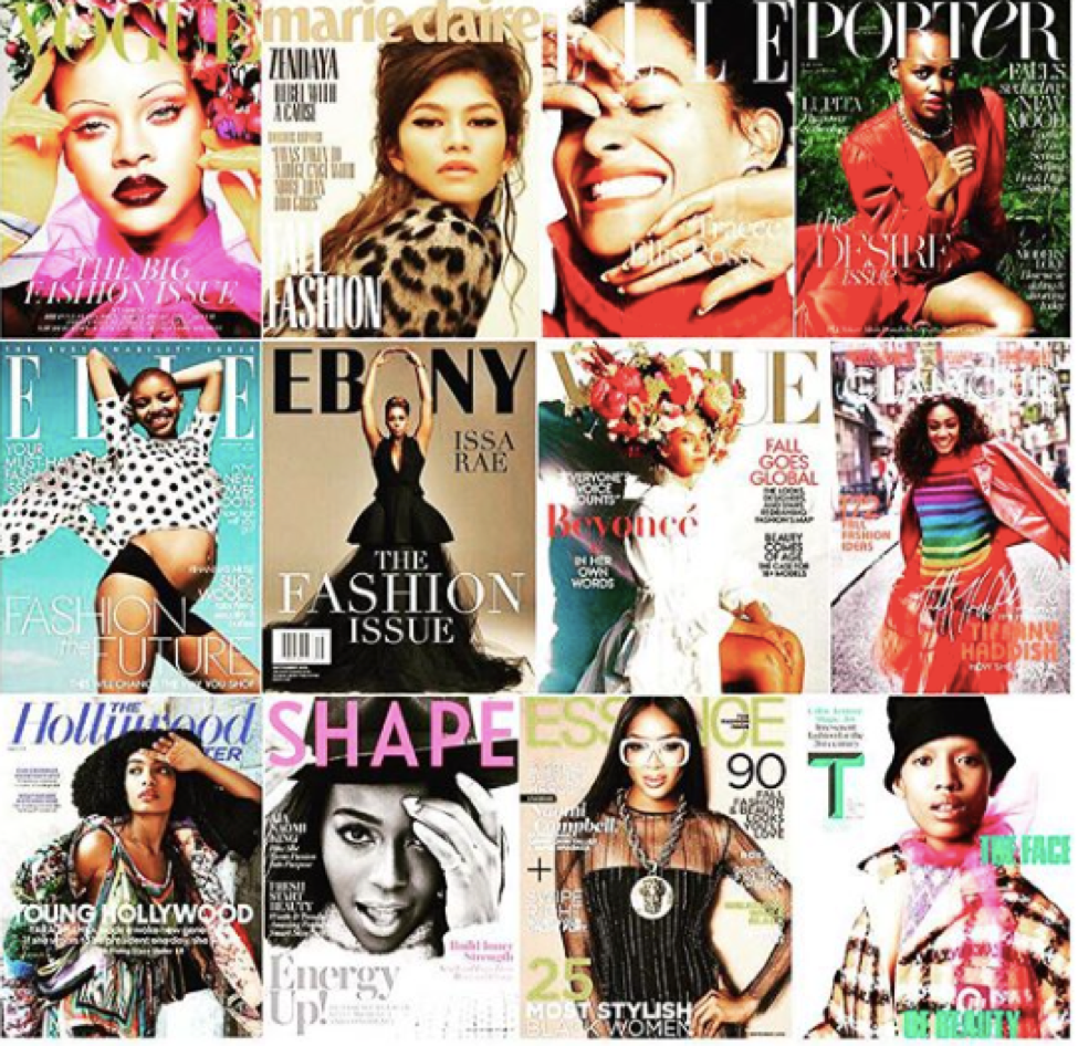 Diverse magazine covers 2018 (Courtesy: Pinterest)