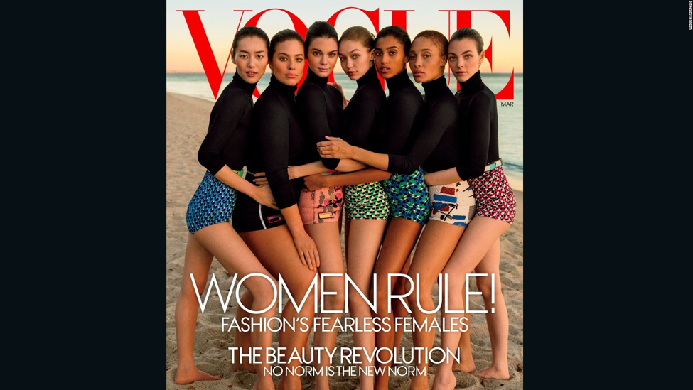 "March 2017 Vogue's ""Diverse Cover"" (Courtesy: Vogue)"