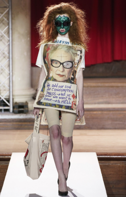 A mixed bag of messages on consumerism, Brexit and diversity at Vivienne Westwood
