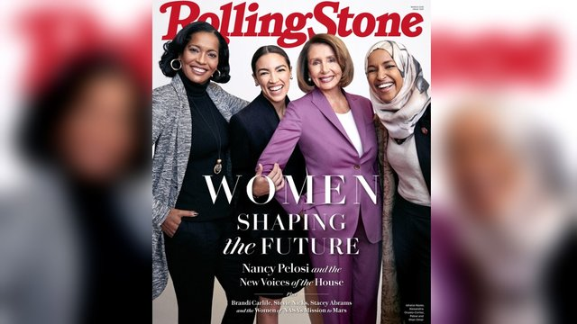 Rolling Stone's March  Cover featuring: Jahana Hayes, Alexandria Ocasio-Cortez, Nancy Pelosi, and Ilhan Omar