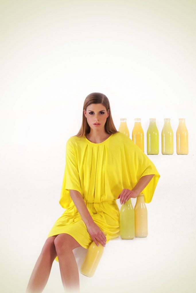 Clothes made with QMILK fibres are biodegradable, natural and have a silky touch. (Photo Courtesy of QMILK)