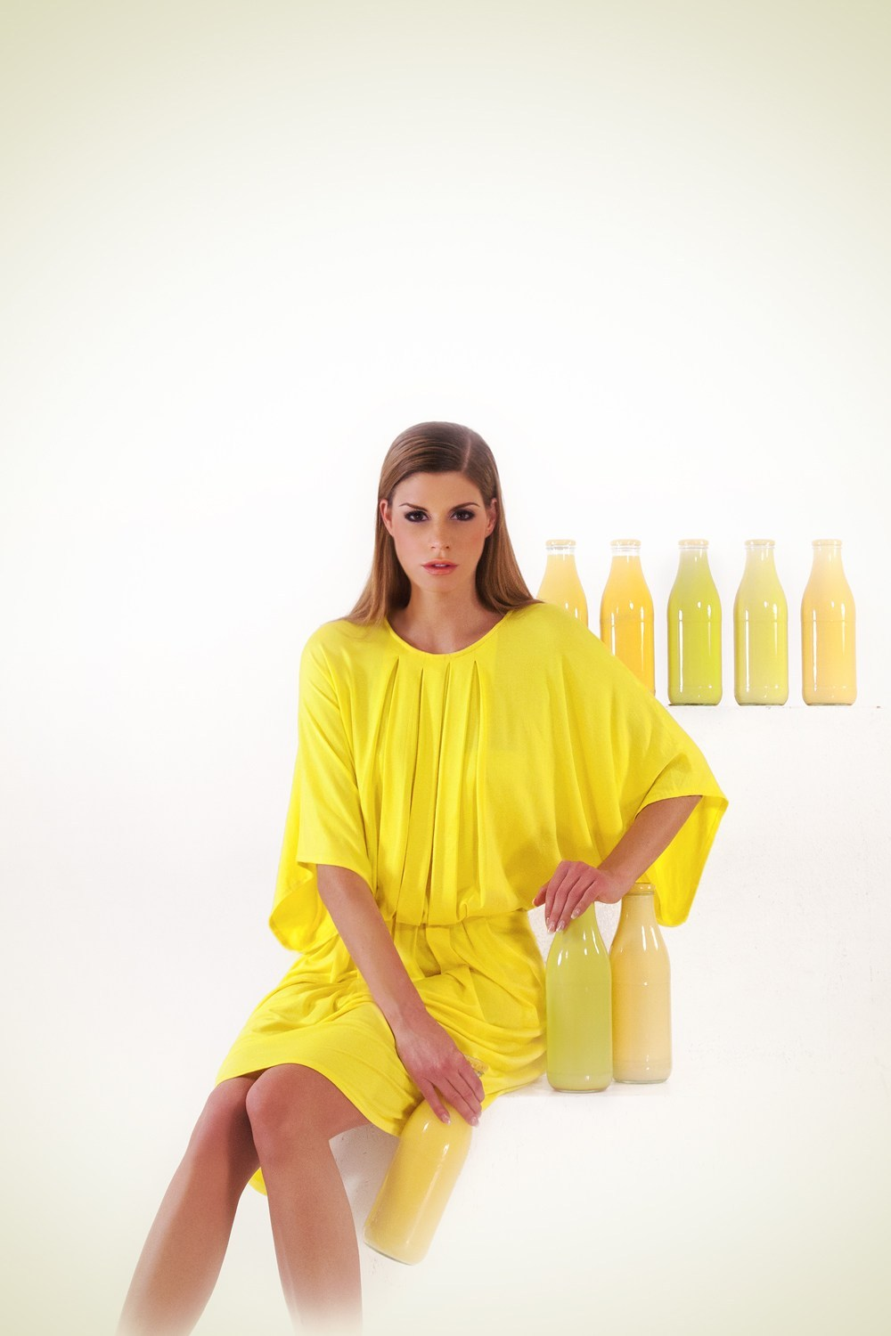 Clothes made with QMILK fibres are biodegradable, natural and have a silky touch. Photo Courtesy of QMILK