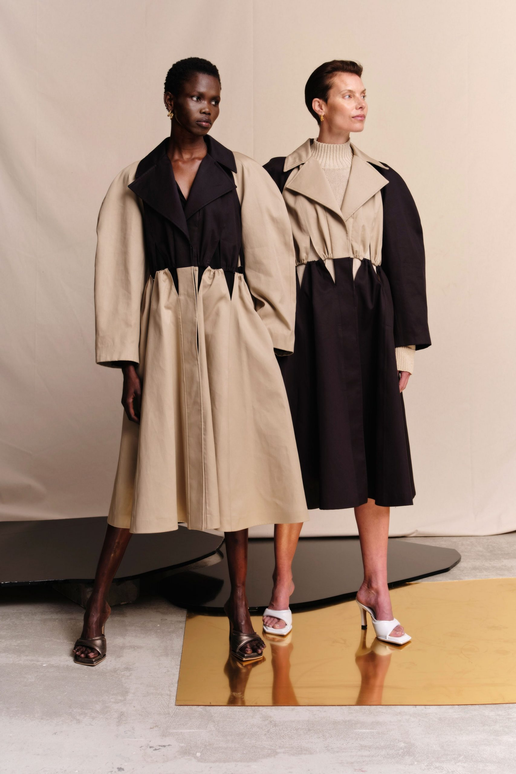 A look from Palmer Harding's spring 2022 collection. Photo credit Vogue Runway