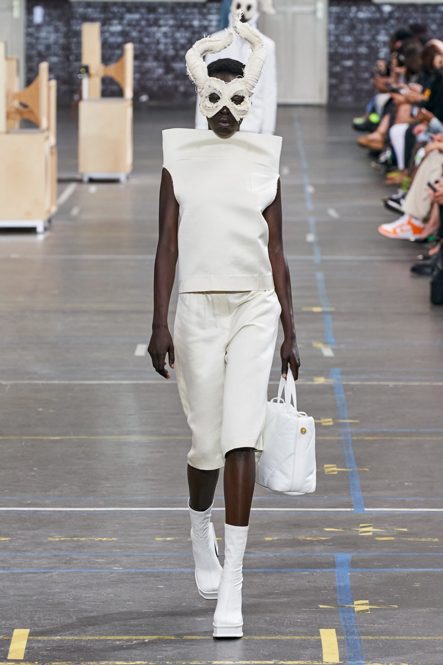 A look from Off-White's Fall 2021 Collection. Photo Credit Vogue Runway
