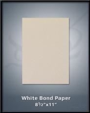 """White Bond Paper 8.5""""x11"""""""