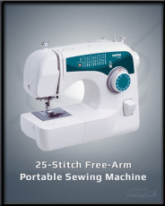 25-Stitch Free-Arm Sewing Machine