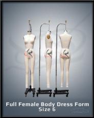 Full Female Body Dress Form Size 6