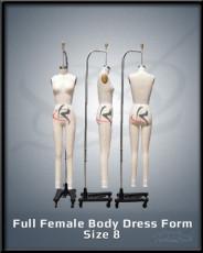 Full Female Body Dress Form size 8