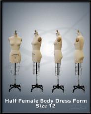 Half Female Body Dress Form Size 12