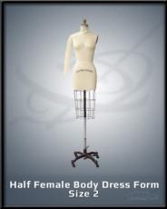 Half Female Body Dress Form Size 2