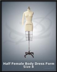 Half Female Body Dress Form size 8