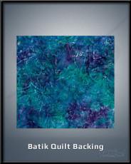 Batik Quilt Backing
