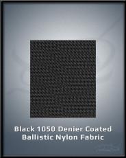 Black 1050 Denier Coated Ballistic Nylon Fabric
