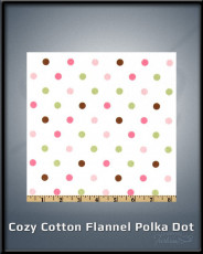 Cozy Cotton Flannel Polka Dot