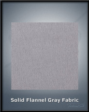 Solid Flannel Gray Fabric