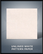 Unlined White Pattern Paper