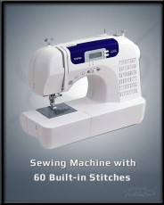 Sewing Machine w 60 Built In Stitches