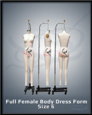 Full Female Body Dress Form Size 6