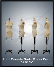 Half Female Body Dress Form Size 12