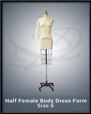 Half Female Body Dress Form Size 6