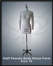 Half female Body Dress for size 16