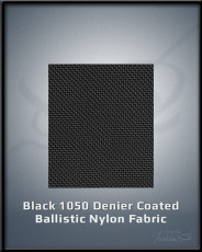 Black 1050 Denier Coated Ballistic Nylon Fabric