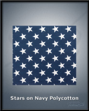 Stars on Navy  Polycotton