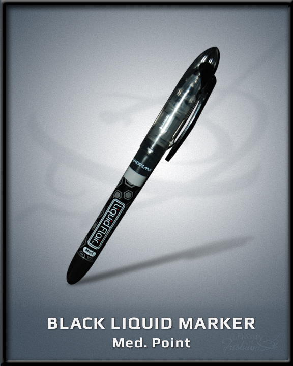 Black Liquid Marker Med Point