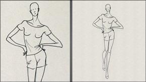 Female Walking Pose
