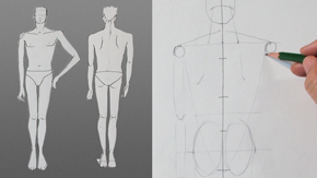 Drawing Male Standing Pose