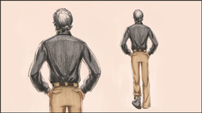 Drawing &amp; Illustrating<br> Male Back Pose