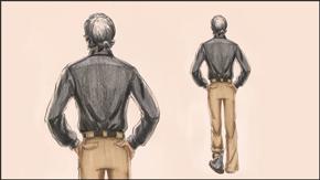 Drawing &amp; Illustrating<br> Male Back Pose