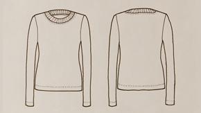 T-Shirt Flat Drawing