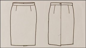 Skirt Flat Drawing