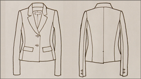 Jacket Flat Drawing