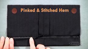 Pinked & Stitched Hem Finish