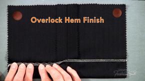 Overlock Hem Finish