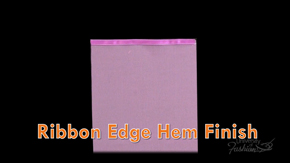 Ribbon Edge Hem Finish