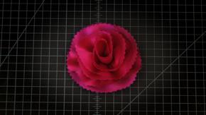 Bias Cut Wrap Carnation