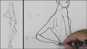 Drawing Female Side Back Pose