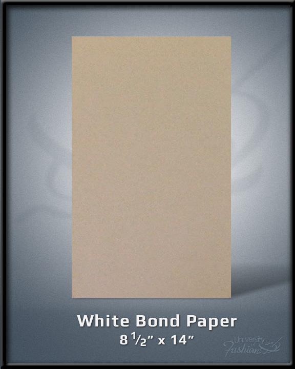 """White Bond Paper 8.5""""x14"""""""