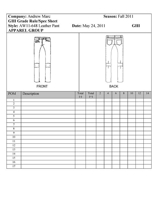 Style Sheet Example Fashion