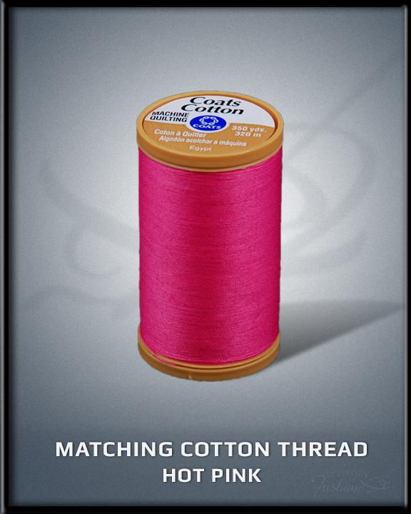 Hot Pink Matching Cotton Thread