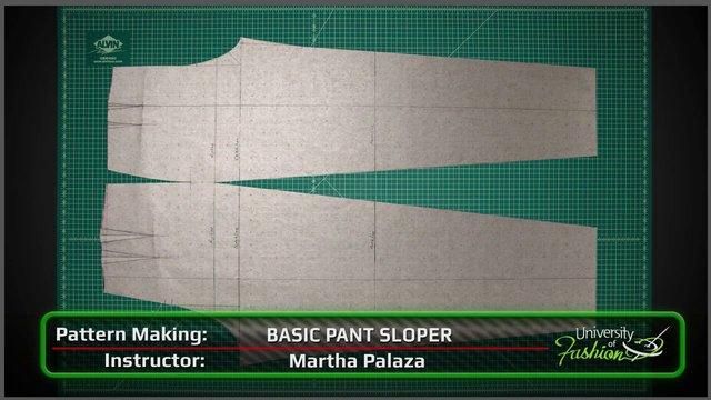 Basic Pant Sloper University Of Fashion