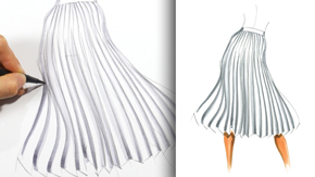 Drawing Accordion Pleats