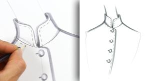 Drawing a Mandarin Collar